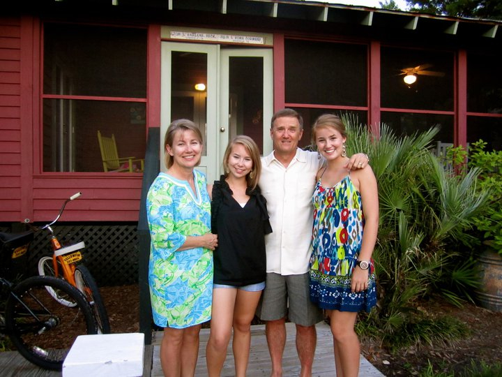My family and I in front of our annual vacation house, Bella Vista.