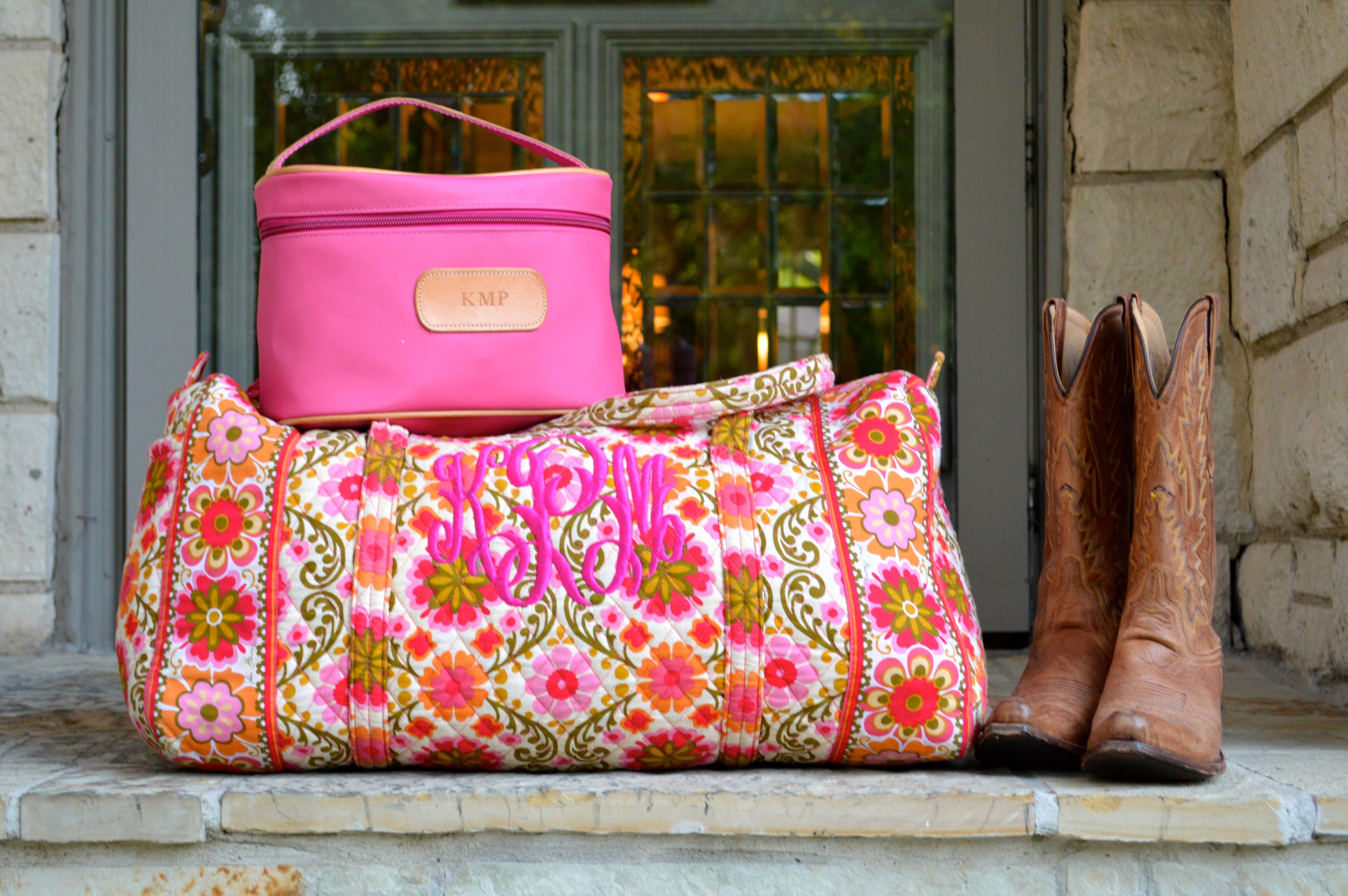 Vera Bradley Jon Hart Preppy Luggage