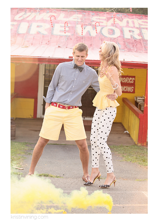 Preppy Engagement Photos