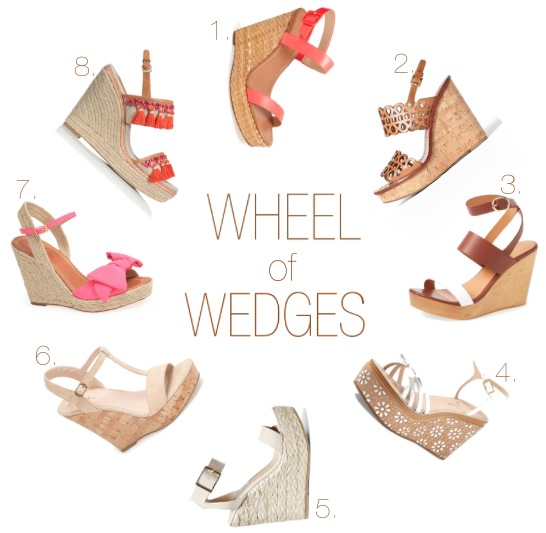 Preppy Southern Summer Wedges
