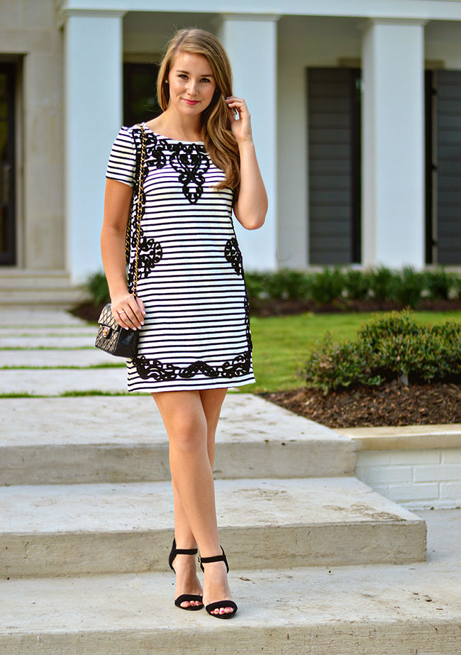 anthropologie striped dress, fall dresses, preppy fall dress, preppy southern style blog, preppy southern style