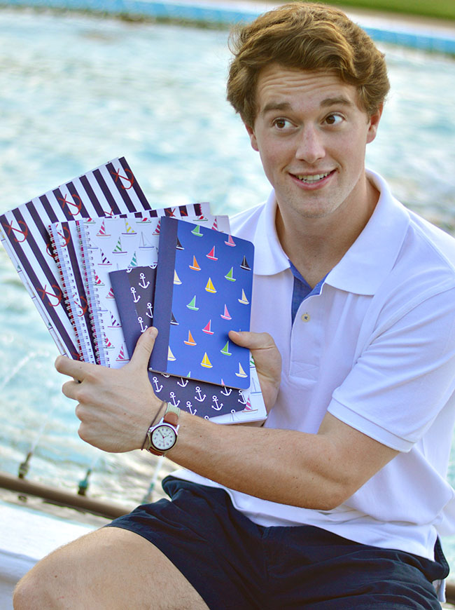cute school supplies, preppy school supplies, monogrammed school supplies, nautical school supplies, flamingo school supplies, sail boat school supplies