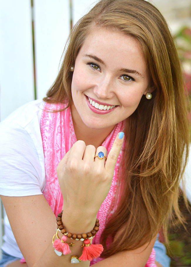 Mean Stinks, anti bullying, preppy southern girl, sorority girl, blue nail polish
