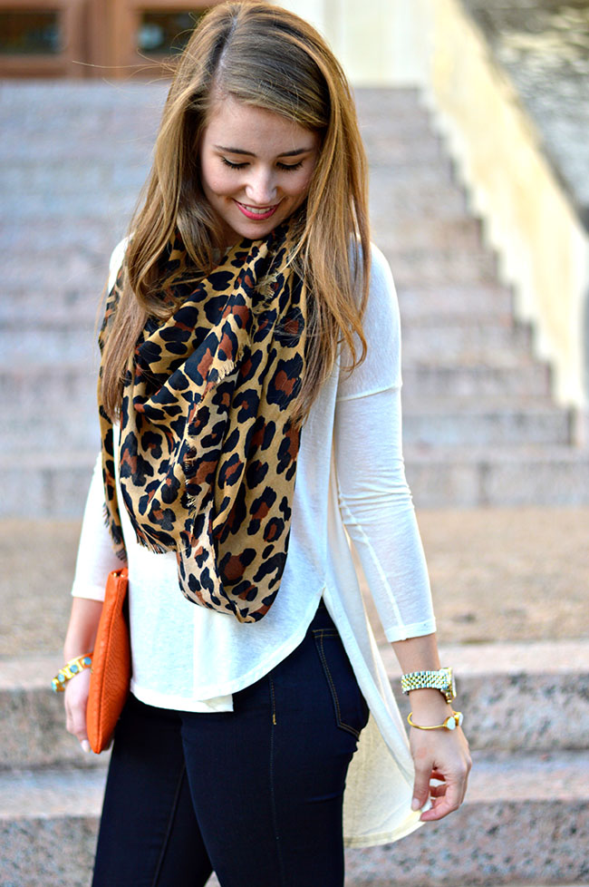 leopard scarf, gigi new york