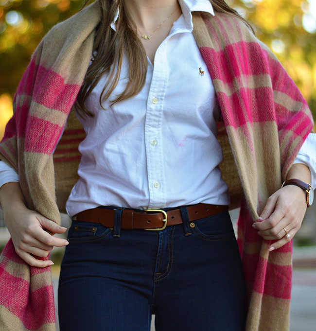 zara plaid blanket scarf