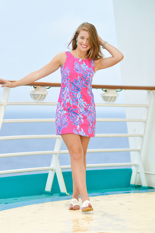 national wear your lilly day, monogrammed jack rogers, lilly pulitzer, samba, lilly pulitzer samba, pink coral dress