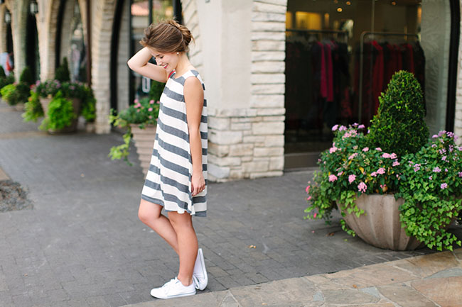 texas blogger, dallas blogger, southern blogger, southern fashion, southern style, sorority girl, swing dress, chloe marcie cross body, white converse sneakers