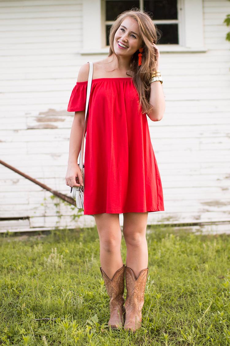 c858f3903019 DRESS red off the shoulder dress (only  25