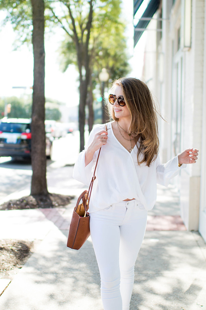 how to wear it: all white