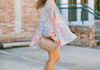 floral peasant tunic