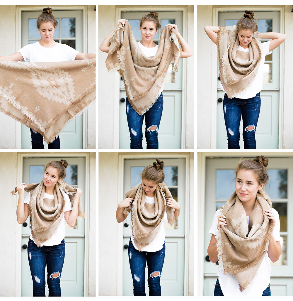 How to tie a blanket scarf a lonestar state of southern how to tie a blanket scarf ccuart Choice Image