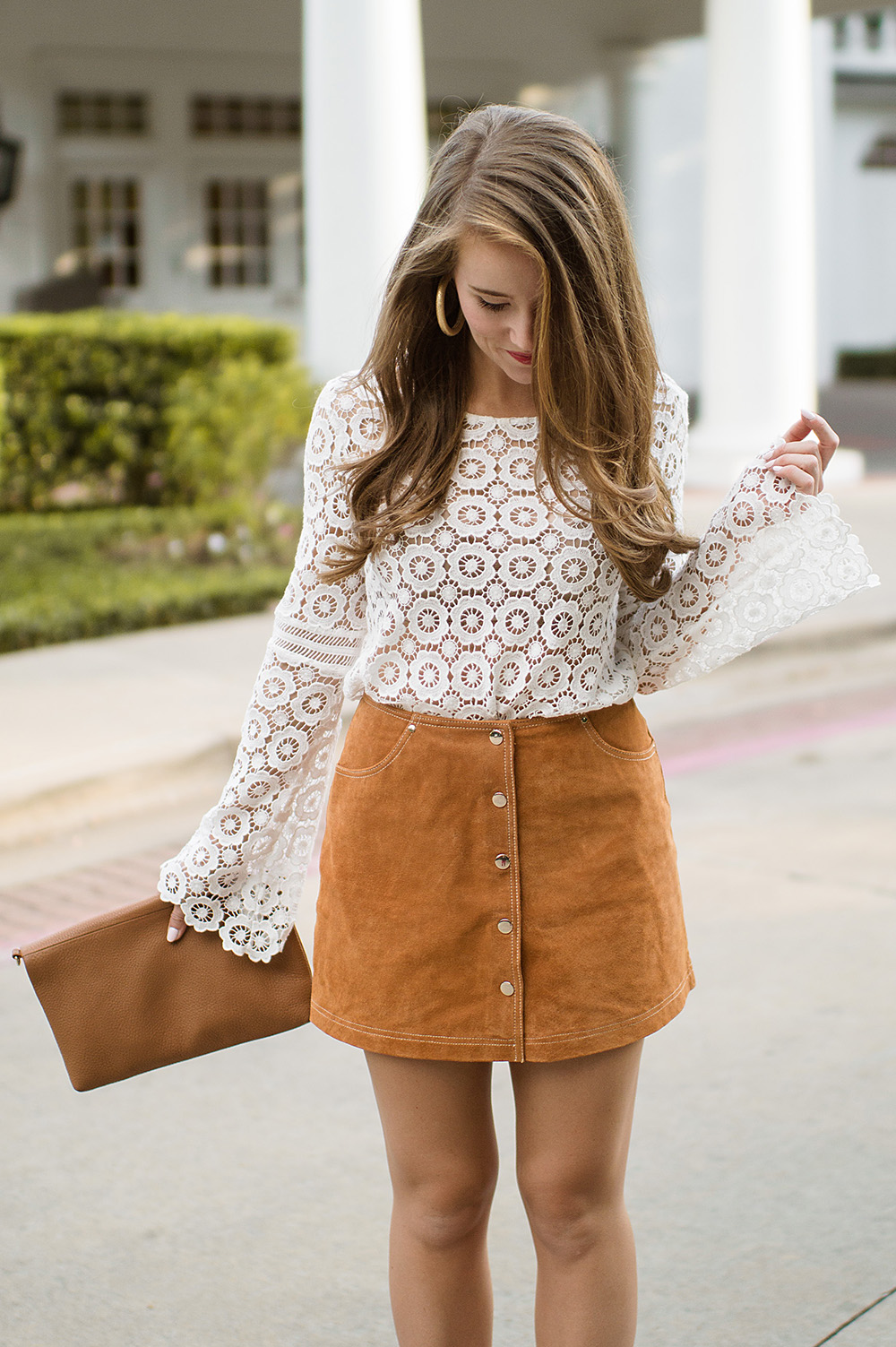 70s Suede Skirt | A Lonestar State Of Southern