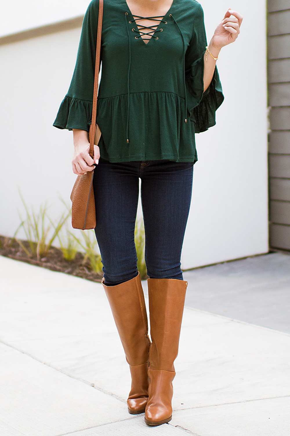 lace-up-bell-sleeve-top