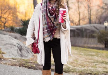 cozy cardigan in central park