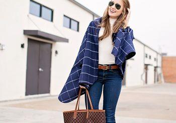 navy plaid wrap