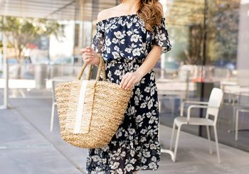 navy floral frock