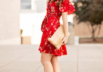 cherry blossom wrap dress