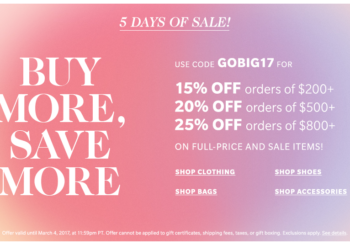 shopbop sale 2017 guide