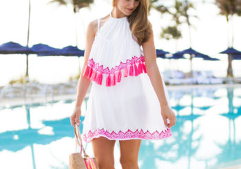 pink tassel cover up
