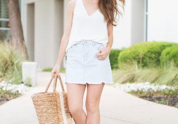 the perfect denim skirt