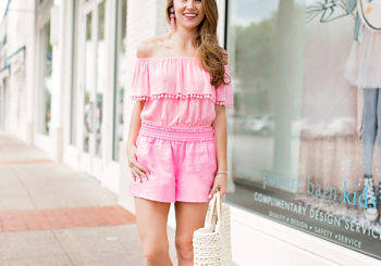 pink linen shorts under $50