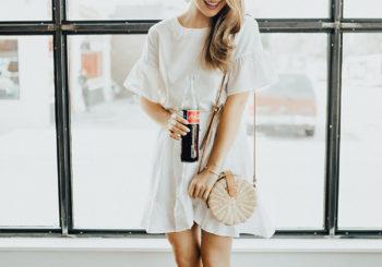 linen ruffle skirt