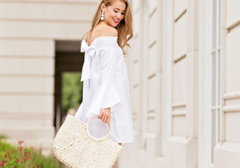 off the shoulder bow dress