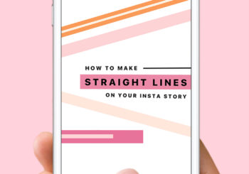 how to make straight lines on instagram story