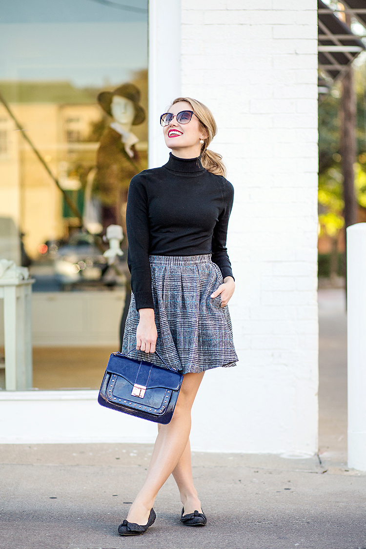 fall plaid skirt
