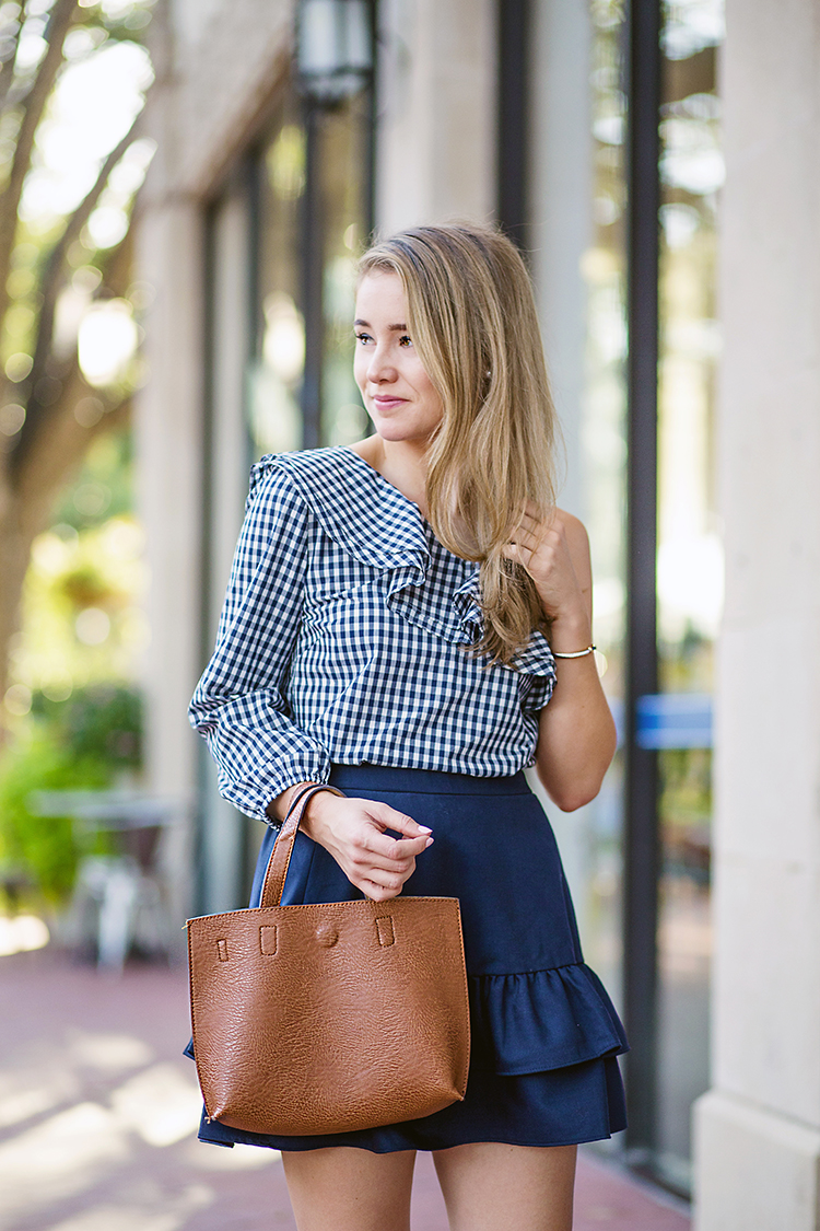 how to wear gingham in the fall