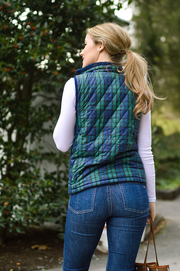 blackwatch plaid vineyard vines vest