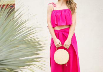 pink matching set