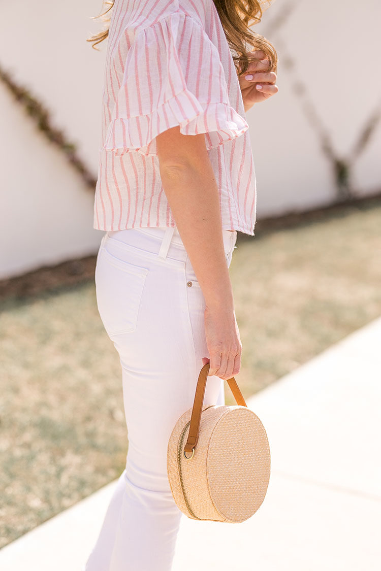 striped linen top
