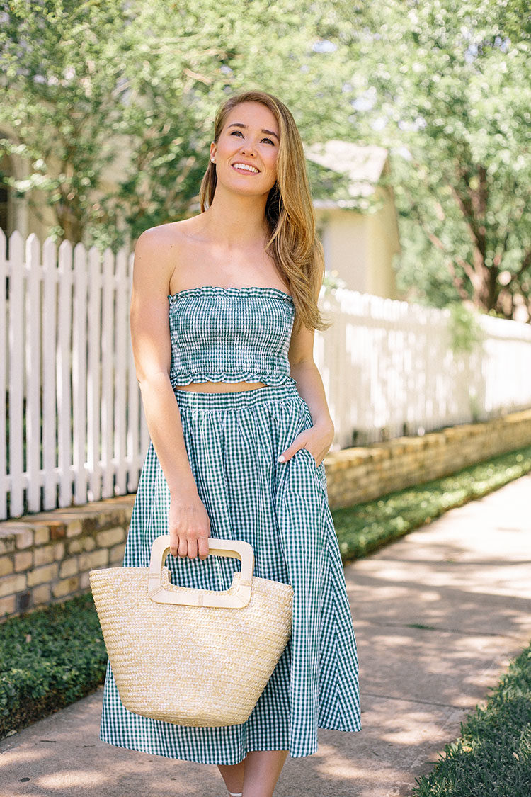 gingham matching set