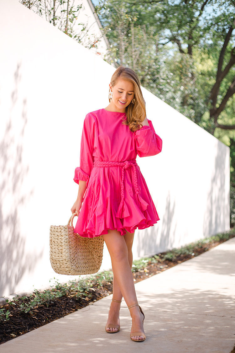 rhode resort ella dress, pink dress