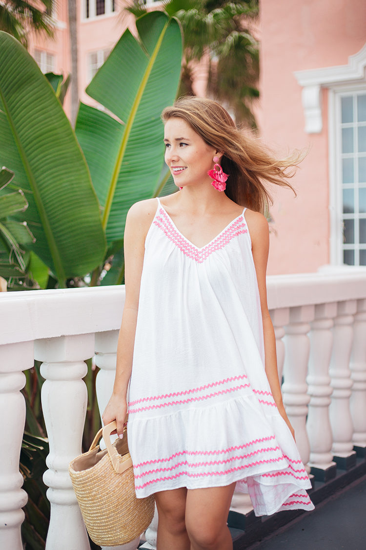 pink ric rac dress, the don cesar hotel