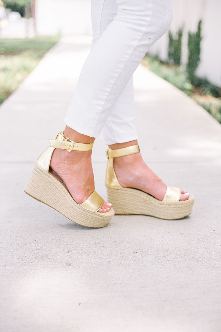 gold wedges j.crew