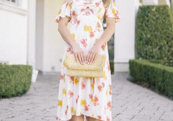 a floral midi dress i'm loving