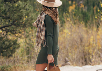how to style a casual fall dress