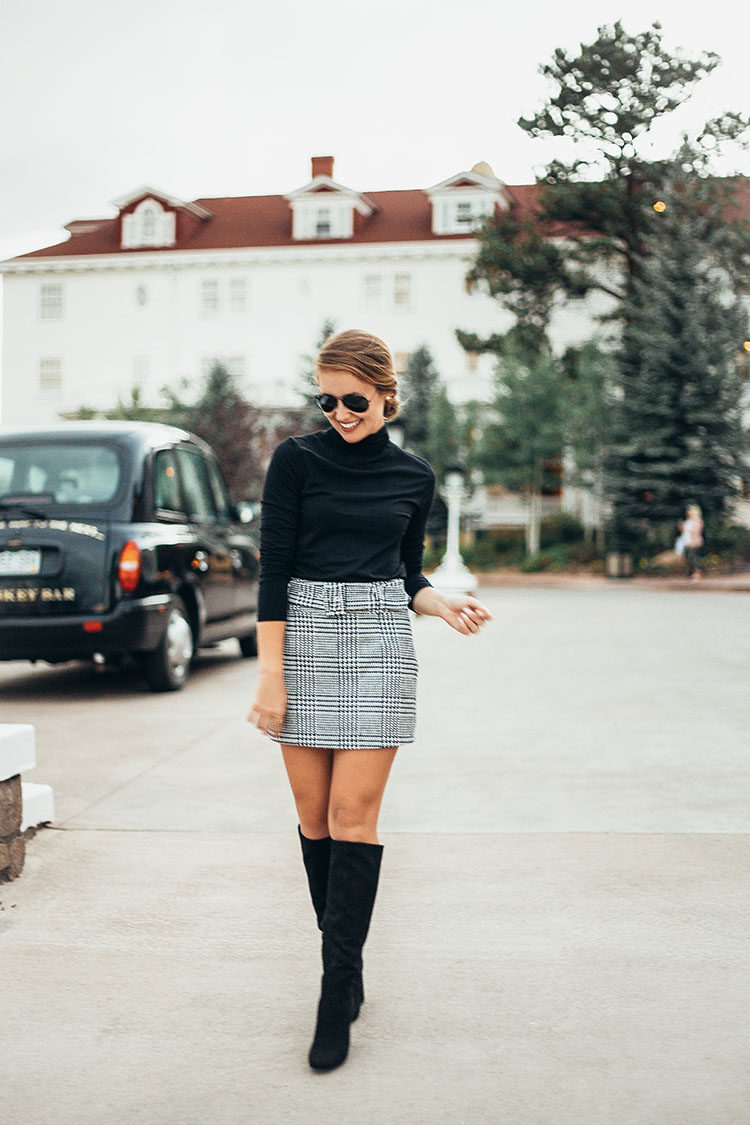 mini skirt glen plaid