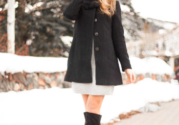 a classic bow christmas coat // 60% off
