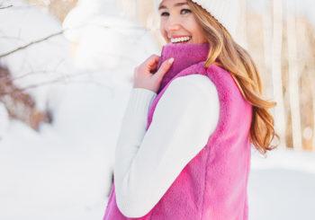 a $22 pink faux fur vest
