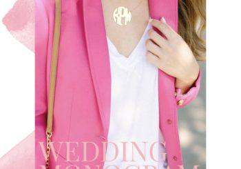 wedding wednesday no. 13 // our custom wedding monogram