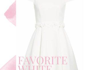wedding wednesday no. 19 // white rehearsal dinner & bridesmaid luncheon dresses