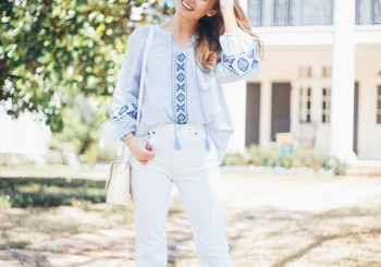my $15 embroidered blouse