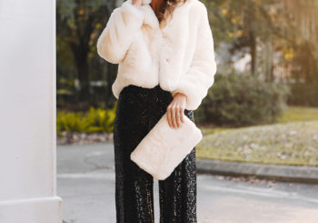 feeling glam // faux fur & sequins