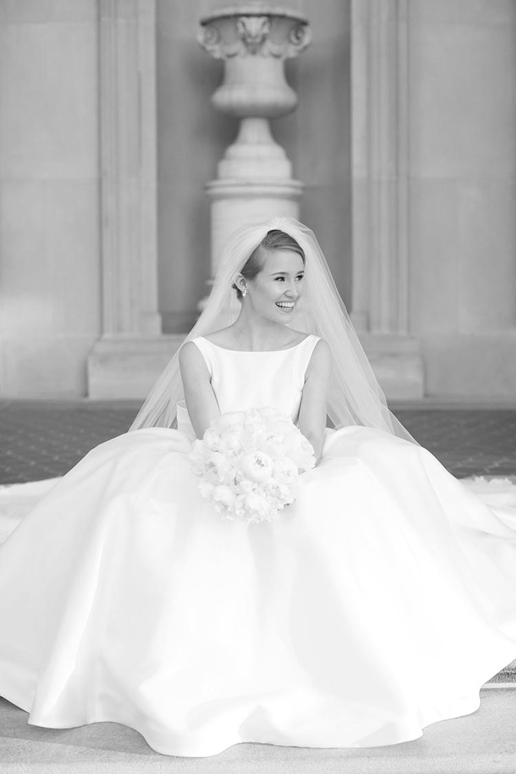 classic bridal portraits, bride, high-neck wedding dress, french twist, wedding up-do
