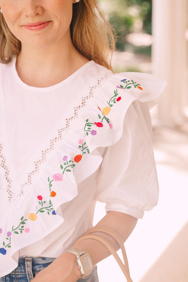 mi golondrina embroidered blouse