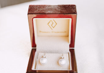 classic pearl diamond wedding earrings