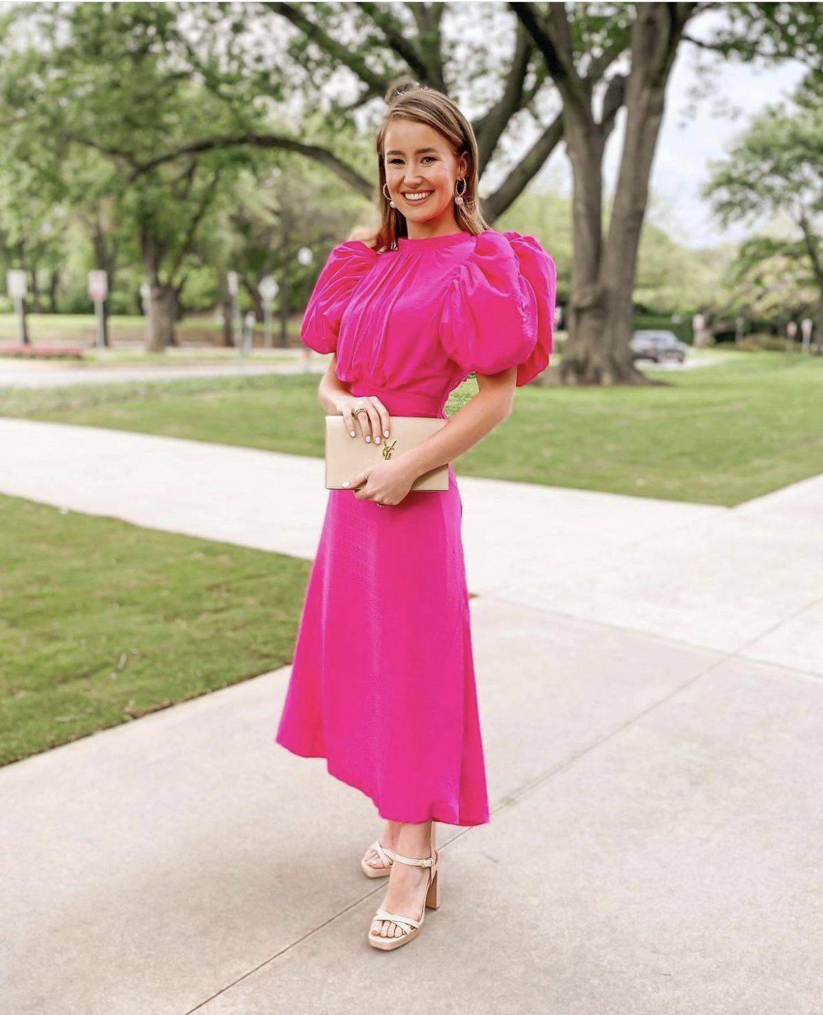 rotate dawn dress pink, summer wedding guest dresses